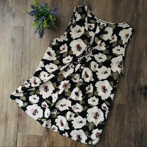 Adorable Floral Sleeveless Blouse!